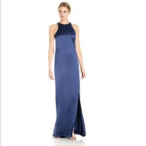 Halston Sleeveless High Neck Strappy Back Gown